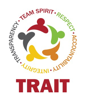 TRAIT Logo - Team Spirit, Respect, Accountability, Integrity and Transparency